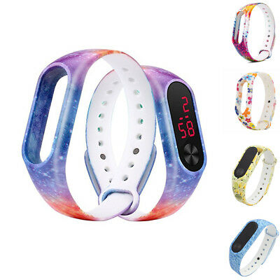Replacement Silica Gel Wristband WatchStrap For Xiaomi Mi Band 2 Bracelet Bangle