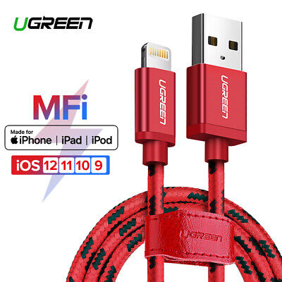 Ugreen Lightning to USB Cable MFi Certified Fast Charging for iPhone X 8 7 7P 6