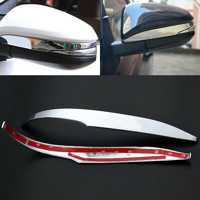 Pair ABS Chrome Car Rearview Mirror Cover Trim For Toyota RAV4 2013-2018