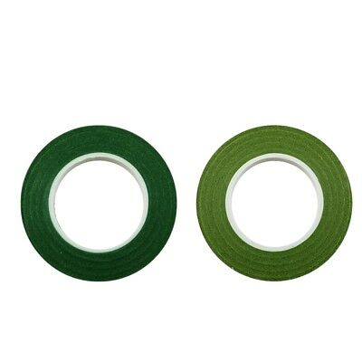 24pcs 30m Florist Floral Stem Tape Wrap Wedding Supplies Dark & Olive Green