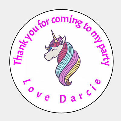 Printed Thank you for coming to my party bag cone Thank you Sticker Labels