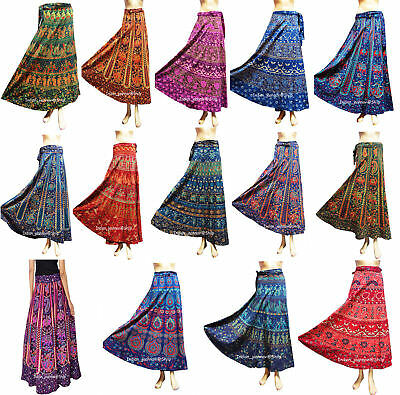 a478519e2c Women Ethnic Floral Rapron Printed Indian Cotton Long Skirt Wrap Around  Skirt