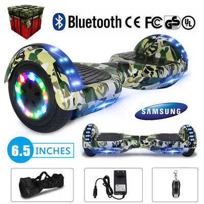 "DE Patinete Electrico Balance Bluetooth Altavoces Howerboard 6.5"" LED Weiss"