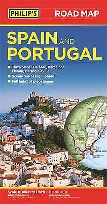 Philips Spain and Portugal Road Map,PB- NEW