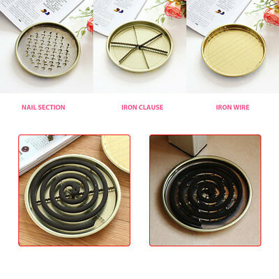 Mosquito Coils Plate Sandalwood Coil Holder Mosquito Coils Tray Toilets Fly Bug