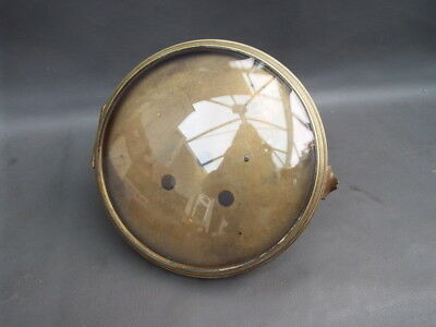Antique brass clock front door with glass 172 mm diameter - spares parts