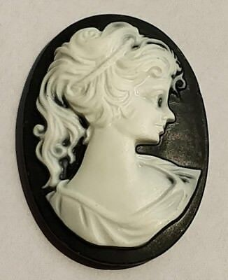 Loose Vintage Victorian Italian Hand-carved 3D Shell Roma Prince Cameo 36X26 mm