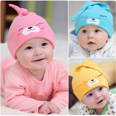 100%Cotton Cartoon Baby Caps Cute Lovely Sleeping Long Tail Hats Unisex