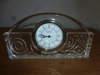 Waterford Crystal - Art Deco Style -  Mantle Desk Clock