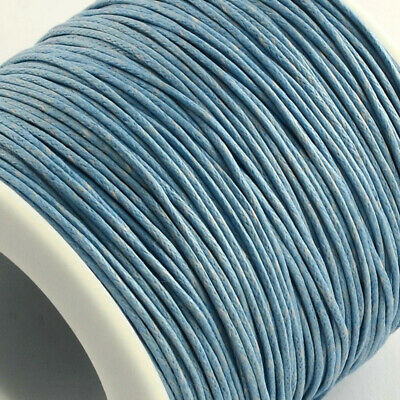 Waxed Cotton Cord Thread 1mm Light Grey for bead stringing bracelet necklace