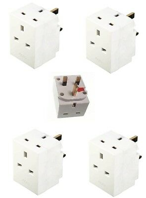 Fused 3 Way Gang Socket Multi Plug 13A 240V Ace Mains Uk Plug Adaptor Socket