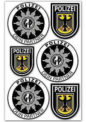 2 polizei gdp aufkleber sticker innenaufkleber polizeiaufkleber autostern auto eur 1 80. Black Bedroom Furniture Sets. Home Design Ideas