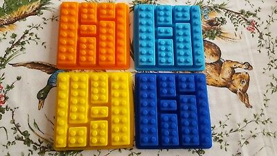 Lego Bricks Cake Soap Shape Ice Cube Cubes Silicone Tray Mould Fridge Freezer #