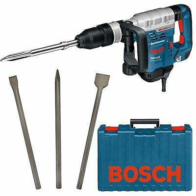 Bosch Schlaghammer SDS-MAX GSH 5 CE 1150W 230V + Bosch SDS-MAX Meisselset 3-tlg.