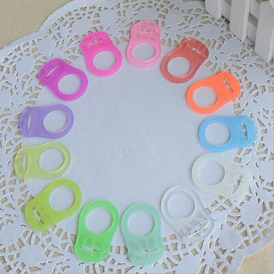 5Pcs Colorful Silicone Baby Dummy Pacifier Holder Clip Adapter For MAM Ring FO