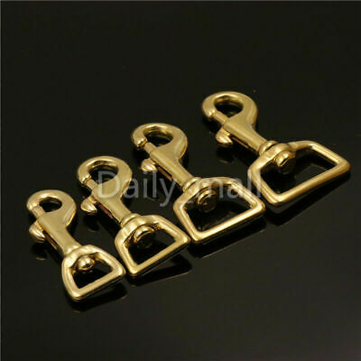 Brass Lobster Trigger Swivel Clasps Heavy Duty leather bag/Pet Dog Leash Clasp