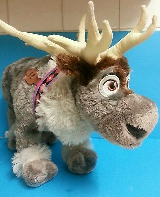 Disney Store Frozen Sven Reindeer Large 16 inch long  Plush stamped and tagged