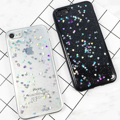 For iPhone X 6s 7 8 Plus Luxury Bling Glitter Slim Soft TPU Silicone Case Cover