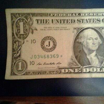 Series 2009 $1 Federal Reserve Star Note - Semi-Rare