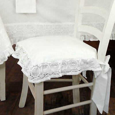 Cuscino Per Sedia Shabby Chic Madame White Collection 40 X 40 Colore