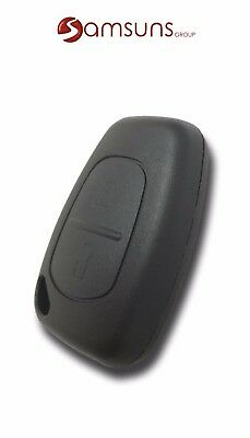 2 Button Car Key for Renault Kangoo Master Traffic Clio Vauxhall Vivaro Movano