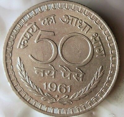 1961 INDIA 50 PAISA - High Quality Collectible - FREE SHIPPING - India Bin #C
