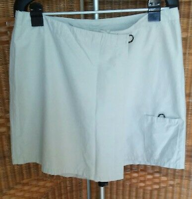 Columbia Womens Beige Skort Sz 16 Cotton /nylon 3 Pockets Nice Cond