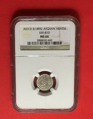 AFGHANISTAN -UNC 1895 (AH 1313)ABBASI -CERTIFIED BY NGC MS-66..good opportunity.