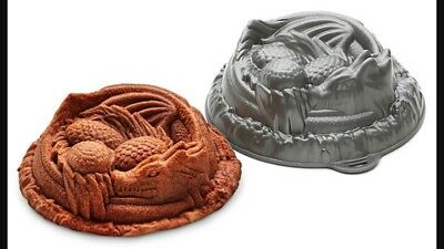 Dragon Cake Pan Game Of Thrones Eggs. New (Packaging Is damaged)