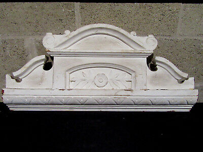 ~ Antique Carved Walnut Pediment ~ 1 Of 2 ~ 29 Wide ~ Architectural Salvage ~