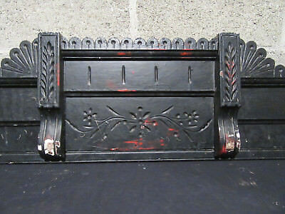 ~ Antique Carved Walnut Pediment ~ 56 Inches Wide ~ Architectural Salvage ~
