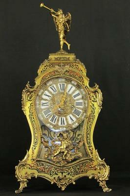 SPECTACULAR LARGE BOULLE CLOCK with QUARTER CHIMING 8 DAY MOVEMENT
