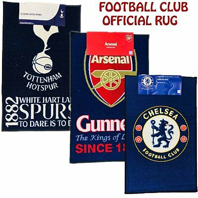 New OFFICIAL Football Club Rugs Floor Mats Soccer Crest Carpet Bedroom Footy Mat