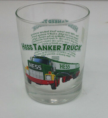 Vintage 1984 Hess Tanker Truck Glass From The 1996 Classic Hess Truck Series