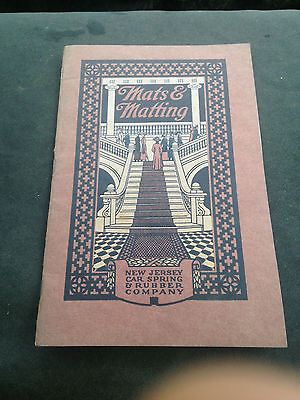 Early New Jersey Car Spring & Rubber Co. MATS & MATTING Catalog