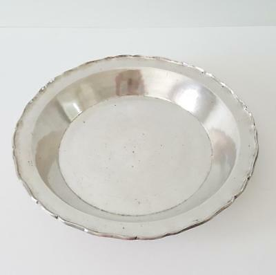 Large Antique Spanish Colonial Silver Charger Plate Dish