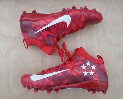 the best attitude 21274 f8928 NEW Nike Field General 3 Elite TD Men s Football Cleats 16 Red Camo 833390- 610