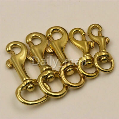 Brass Swivel Round Eye Bolt Snap Hook Pet leash Dog chain Clips bag straps clasp