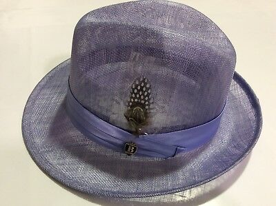 "BRUNO CAPELO NEW PINCH FRONT MEN'S ANDREAS SUMMER SINAMAY HAT  2 1/4"" Brim"