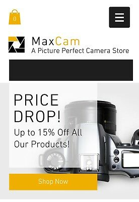 Website Ready -  Camera Online Store, Suit Any Location, ✅
