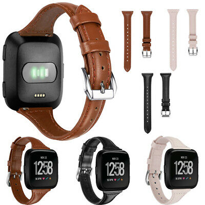 Leather Watch Band Bracelet Replacement Wristband Cuff Straps For Fitbit Versa
