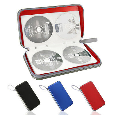 NEW 80 DVD CD Holder Album Storage Case Folder Wallet Carry Bag Organizer Box