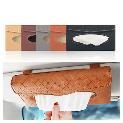 Car Auto Clip Sun Visor Tissue Box Paper Case Cover Napkin Holder Universal KU