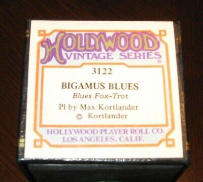 Bigamus Blues Played By Composer Max Kortlander Recut Piano Roll 0418