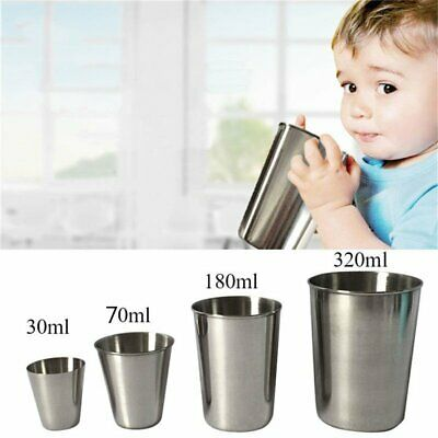 Stainless Steel Cup Drinking Coffee Beer Tumbler Picnic Outdoor Travel Tool KU