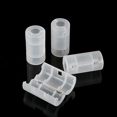 4Pcs AA to C Size Battery Converter Adaptor Switcher Holder Case Storage Box KU
