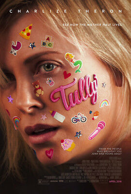 TULLY MOVIE POSTER 2 Sided ORIGINAL FINAL 27x40 CHARLIZE THERON MARK DUPLASS