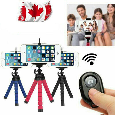 "5.5"" Flexible Smartphone Tripod + Bluetooth Remote for iPhone Samsung Canada"