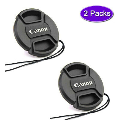 2X 49mm Lens Cover Cap for Canon EOS M50 M6 M100 With EF-M15-45mm IS STM Lens