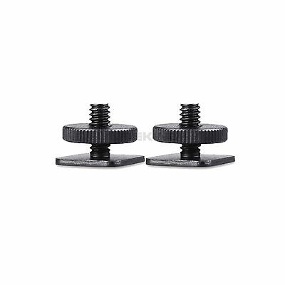 "New 1/4"" Tripod screw to  Flash Hot Shoe Mount Adapter *2"